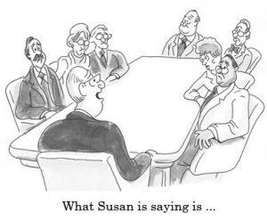 men interrupting women